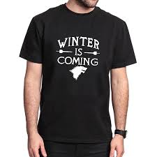 american style winter is coming t shirt summer selling game of