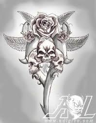 the 25 best skull and rose drawing ideas on pinterest skull