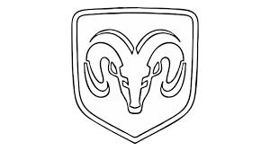 Dodge Truck Ram Head Hood Ornament - how to draw the dodge ram logo symbol youtube