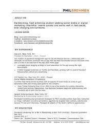 resume exles for media internships sle resume it internship fresh 10 marketing resume sles