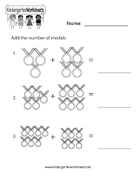 free printable olympics math worksheet for kindergarten