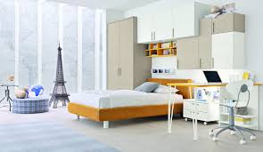 orange white beige bedroom interior design ideas
