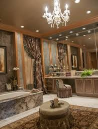 Upscale Bathroom Fixtures Chandeliers Design Magnificent Upscale Designer Bathroom With
