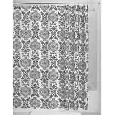 Charcoal Shower Curtain Charcoal White Damask Shower Curtain In Polyester Fabric The One