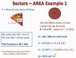 Area Of Sector Worksheet Arc Length And Area Of Sectors Passy S Of Mathematics