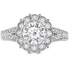 halo engagement rings liliana halo engagement ring dia band