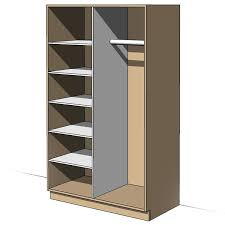 Wardrobe With Shelves by Revit Cupboard Wardrobe Shelf Family Revit Family Revit