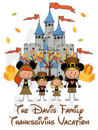 printable diy thanksgiving disney world family vacation personalized