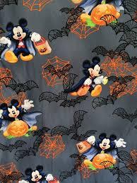 Thanksgiving Scrub Tops Disney Halloween Scrub Top Shirt Mickey Mouse Vampire Spiderwebs