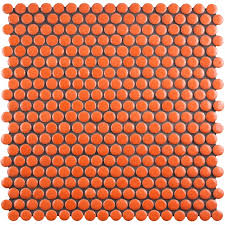 elitetile celestia penny round  x  porcelain mosaic tile  with celestia penny round  x  porcelain mosaic tile  from wayfaircom
