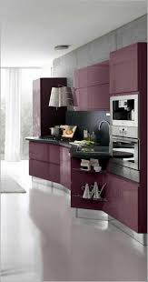küche lila design küchen stauraum küche lila einrichtung weißer boden