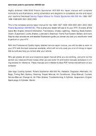 2000 Polaris Sportsman 500 Wiring Diagram 2004 Polaris Sportsman