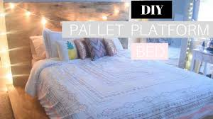 diy pallet platform bed pinterest inspired youtube