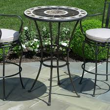 Round Table Patio Dining Sets - small elegant peerless round table and stools bar height patio