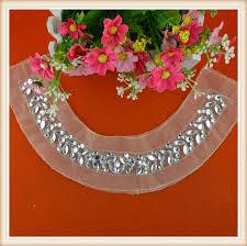 fashion hand beaded stone work neck design trim for women dress