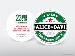 Super Chá Bar Heineken – Criativa Convites – Design & Gifts – Loja Online #VH35