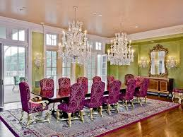 Rectangular Crystal Chandelier Dining Room With Extra Large Carpet - Crystal chandelier dining room