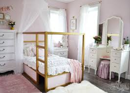 Girls Shabby Chic Bedroom Furniture A Shabby Chic Glam Little U0027s Bedroom Makeover In Pink U0026 Gold