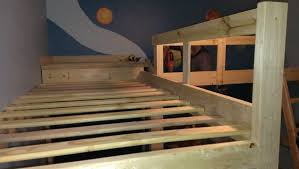 Build Your Own Loft Bed Free Plans by Diy L Shaped Bunk Beds Part Ii Timandmeg Net Boy U0027s Bedroom