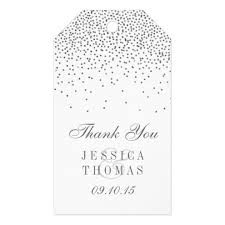 wedding gift tags vintage glam silver confetti wedding gift tags zazzle