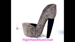 leopard high heel chair church chairs lifts for stairs mats fd