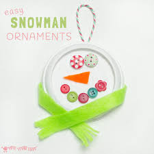 snowman ornaments craft room