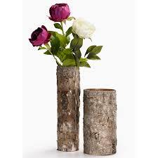birch bark glass vases