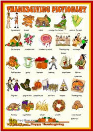 thanksgiving booklet esl worksheets of the day