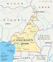map of cameroon cameroon political map stock vector furian 50635799