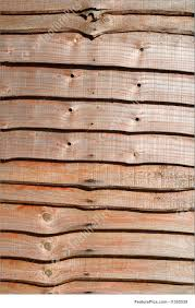 closeup of a wood slat fence picture