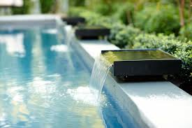 modern water features asian inspired lap pool with contemporary water features marcia
