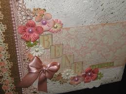 baby girl scrapbook album mini album baby girl scrapbooking tutorial scrapmary