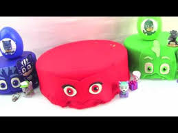 pj masks birthday cake pj masks play doh surprise cake catboy
