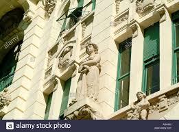 architecture windows green neoclassical statues ornaments facade