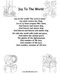 printable lyrics bluebonkers joy to the world free printable christmas carol lyrics
