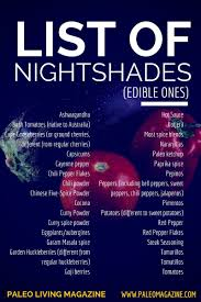shades of red list list of nightshades foods and why you might want to avoid them