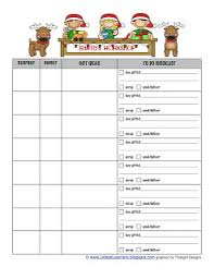 gift shopping list gift lists and gift ideas christmas planner
