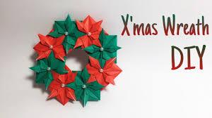 christmas wreath origami tutorial youtube