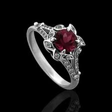 flower engagement ring vintage white gold vintage flower pink tourmaline engagement ring