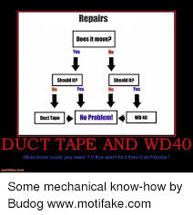 Duct Tape Meme - 25 best memes about duct tape and wd40 duct tape and wd40 memes