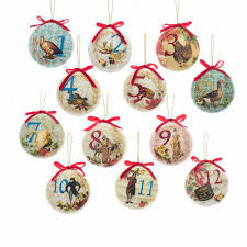 kurt adler 85mm decoupage ball ornament set of 12 t2264 the home