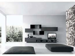 Modern Wall Unit Wonderfull White Black Wood Glass Stainless Cool Design Elegant