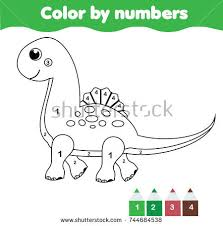 children educational game coloring page cute stock vector
