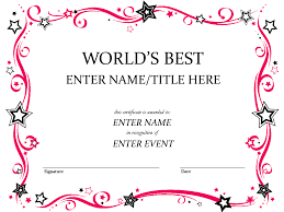 girly certificate templates printable