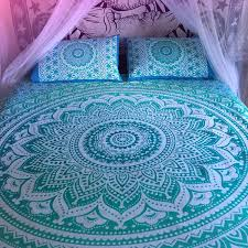 indian blue mandala ombre bedspread tapestry wall hanging hippie