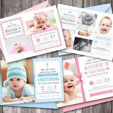 christening invitation cards ebay