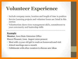 Sample Resume Volunteer Work by 20 Sample Resume With Volunteer Work Cover Letter Volunteer