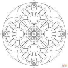 thanksgiving mandala coloring pages download and print sun moon