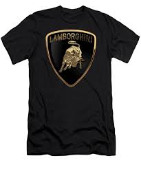 logo lamborghini 3d lamborghini 3d badge on black t shirt for sale by serge averbukh