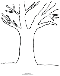 coloring pages tree outline printable autumn tree outline